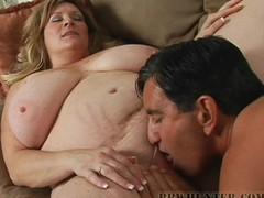BBW acquires her teeth into a beefy sexy dog