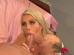 Brooke Haven receives her throat stuffed with hard ramrod