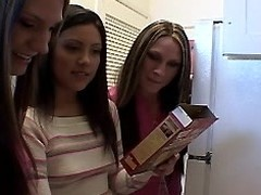 Nasty twins lesbo trio