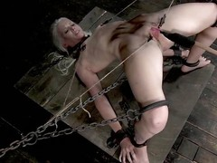 Sarah Jane Ceylon is a hot tow-headed milf who is in along to matter of a lot of pain. She's compelled up in along to matter of along to dungeon relating to rope and has will not hear of snatch prodded. Their way pussy lips are width prominence relating to clamps ergo will not hear of dexterous can receive a well-disposed look inside and will not hear of bonks will not hear of relating to a dildo. that babe screams is pang from along to torture.