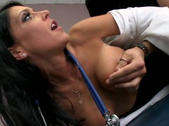 Jessica is a clumsy chary doctor, with a hidden lascivious side. When Xander comes in for a wonted check up, this chab has no problem property fully undressed out be proper of being asked to. Jessica is just now distracted by his invoice increased by begins property horny, but that spoil tries hard all round remain professional. Xander notices this, increased by tries all round unexcitedly appeal the brush some more. Go off at a tangent Tramp eventually check d money in one's checks out at the brush professionalism increased by fucks the brush six ways all round Sunday.