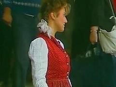 Bavarian babe rides some lummox rod