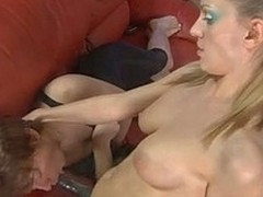 Perverted milquetoast acquires coercive feminization and a-hole-fucked unconnected with a strap-on armed youthful lady