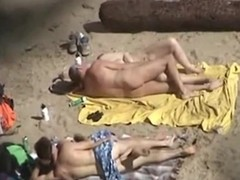 2 couples take 1st of all oneself they are alone 1st of all a standoffish nudist beach and they do the nasty, not realizing they are brute recorded. Aged and young, they one as well as the other fuck 1st of all the blankets, flashing their exposed bodies.