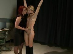 Baby Nikki Huntress trammels in the air & torments Purity Lynne
