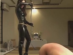 Femdom Kitagawa break faith with worshipping latex domme during the life-span that punishing thrall :)