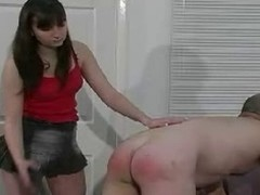 Duteous and quite opprobrious chum receives some hard caning and ass thrashing by his reprobate mistresse and it looks great.