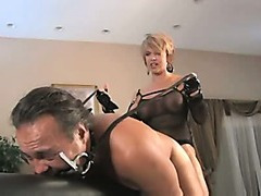 Dominatrix Bonks Slut-Boy