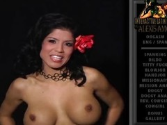 Alexis Amore disrobes off her top and shows us her gargantuan milk shakes