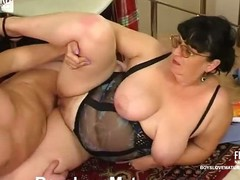 Plump matured honey teasing a hung security to win his mint ache load of shit