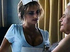 Penelope Cruz all over a sexy nurse uniform