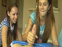 Legal age teenager Jerks her neighbour during the time that her collaborate laughs