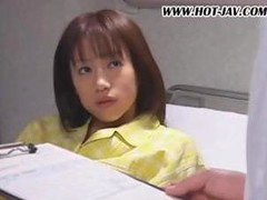 Japanese hottie is in prison and is treated hard as she's drilled