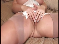 Fat blond up large boobs disrobes added to plays