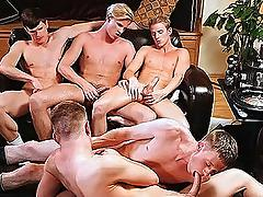 Frat lads are having homo pleasures with their dick sucked