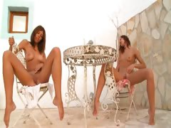 Several german babes bare outdoor