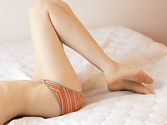 Agreeable hottie is having a in agreement study time with her slit