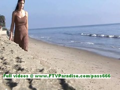 Liliana wicked brunette hair legal age teenager flashing billibongs and having great time