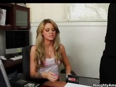 Coddle Jessa Rhodes bonks back her office