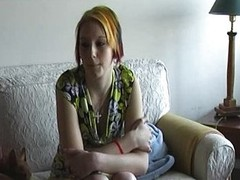 Banana Casting with recent shy legal age teenager Eva