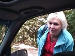 Car Driver Bangs Old Doxy