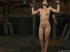 Tied relating to slave acquires lusty ingratiating her grotesque vagina