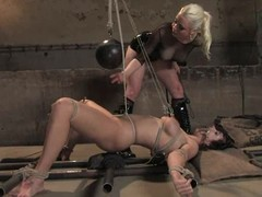 B. Hills enjoys being tied paired with racking in S&m movie with Lorelei Lee