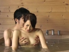 Japanese janitor gives a speculate oral-job nearly a bath