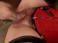 Matured brunette hair Eva acquires the brush unshaved vag toyed and screwed from bankrupt