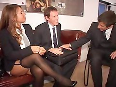 2 German secretaries make a wonderful impression on the boss and his associate