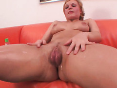 Klara fulfills her raunchy wishes with mans rock hard meat bank there her juicy spot