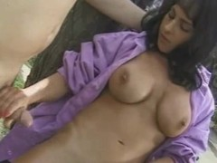 Natural MILF In Purple Jerks It