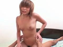 Juvenile Japanese woman relative to petite mangos drilled