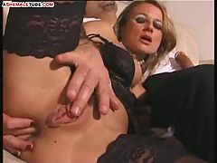 Soaked cunt for stud and transsexual cocks