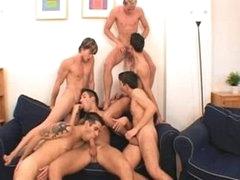6 Males Strive A Bareback Fuckfest