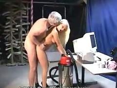 Older man releases his unyielding boner