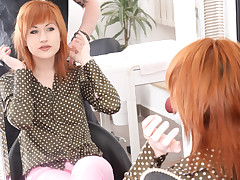 A hottie likes to succeed in coarse fucked at one's fingertips the salon