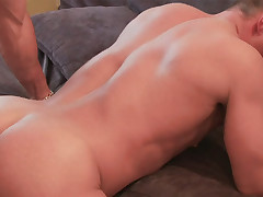 Two sex-crazed gay in person studs adulate to bareback