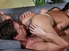 Darksome haired asian pet Kaylani Lei likes oral-job sex so much. This pet gives savage oral to her fuck buddy and then acquires her exotic slit tongue fucked in 69 position.