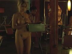 Naked Waitress Working Hard For Tips